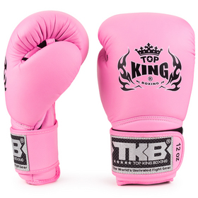 Top King Super Air Pink Velcro Boxing Gloves