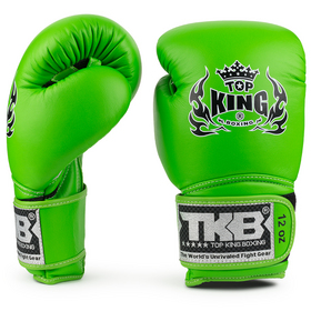 Top King Super Air Green Velcro Boxing Gloves