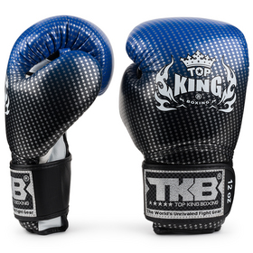 Top King Super Star Blue Velcro Boxing Gloves