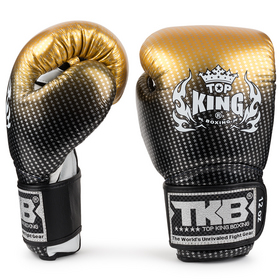 Top King Super Star Gold Velcro Boxing Gloves