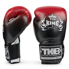 Top King Super Star Red Velcro Boxing Gloves
