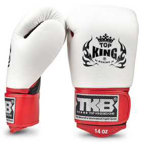 Top King Ultimate Boxing Gloves Black/White/Red