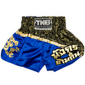 Top King Kids Muay Thai Shorts / Black Blue