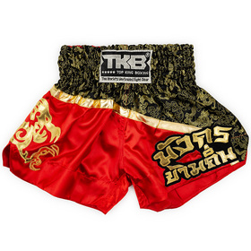 Top King Kids Muay Thai Shorts / Black Red