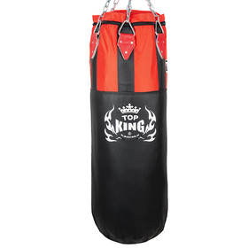 Top King Heavy Bag Black & Red (unfilled)