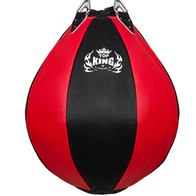 Top King Boxing Heavy Tear Drop Bag Black & Red Large (unfilled)