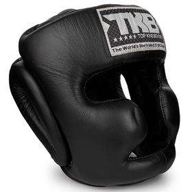 Top King Boxing Full Coverage Face Guard Black