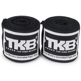 Top King 4m Elastic Cotton Hand Wraps Black