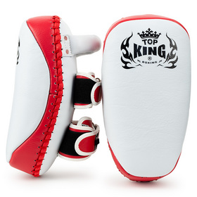 Top King Ultimate Curved Thai pads White & Red