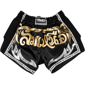Top King Retro Muay Thai Shorts Black
