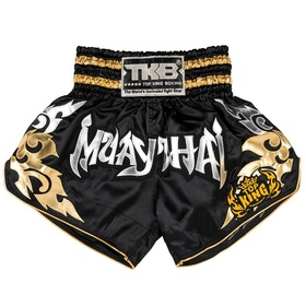 Top King Shorts / Traditional / Black Silver Gold