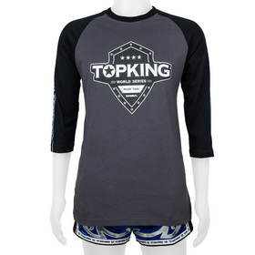 Top King Long Sleeve T-Shirt Black & Grey