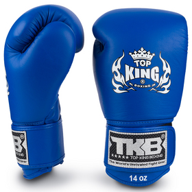 Top King Ultimate Velcro Boxing Gloves Blue