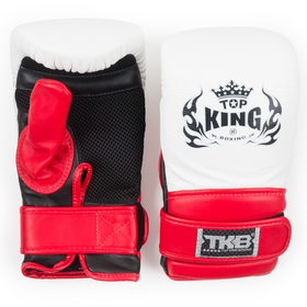 Top King Air Bag Mitts White, Red & Black