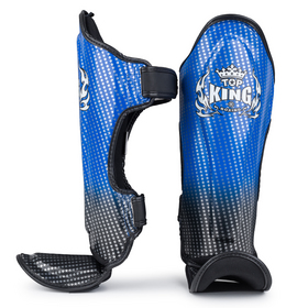 Top King Kids Super Star shin Pads Blue & Black