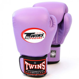 Twins Pro Velcro Boxing Gloves Lavender