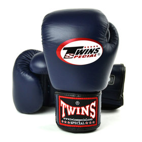 Twins Pro Velcro Boxing Gloves Navy Blue