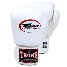Twins Pro Velcro Boxing Gloves White