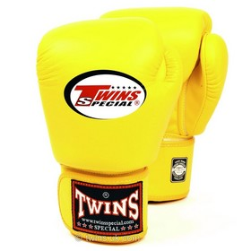 Twins Pro Velcro Boxing Gloves Yellow