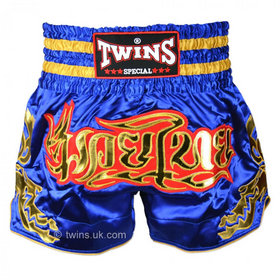 Twins Muay Thai Shorts / Traditional / Blue Gold