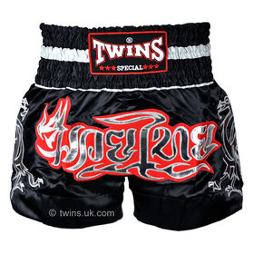 Twins Muay Thai Shorts / Traditional / Black Silver