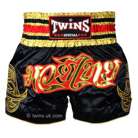 Twins Muay Thai Shorts / Traditional / Black Gold