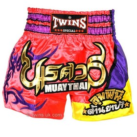 Twins Satin Muay Thai Shorts Pink & Purple