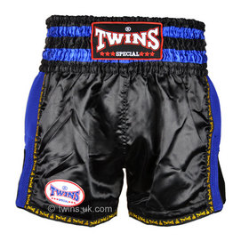 Twins Muay Thai Shorts / Retro / Black Blue