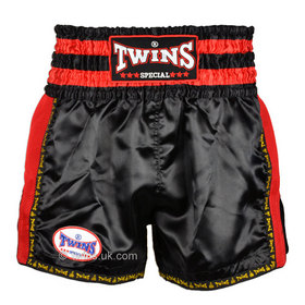 Twins Muay Thai Shorts / Retro / Black Red