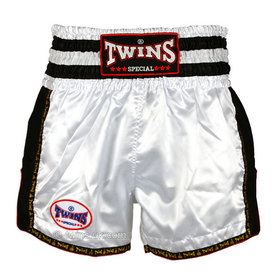 Twins Muay Thai Shorts / Retro / White Black