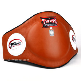 Twins Brown Leather Belly Pad