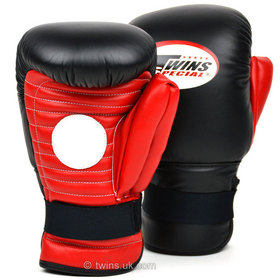 Twins Spar Mitts / Pro Coach / Black Red