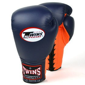 Twins Lace-up Sparring Gloves Navy-Orange