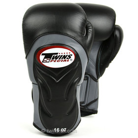 Twins Black-Grey Deluxe Sparring Gloves