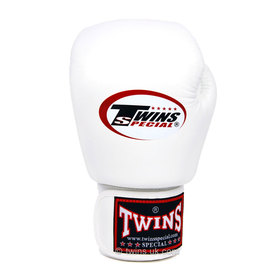 Twins White Junior Velcro Boxing Gloves