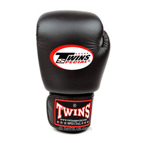 Twins Junior Velcro Boxing Gloves Black