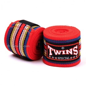 Twins 5m Cotton Hand Wraps Red