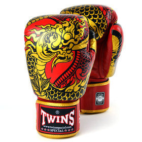 Twins Red-Gold Nagas Boxing Gloves