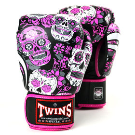 Twins Pink Skull Boxing Gloves