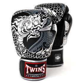 Twins Boxing Gloves Black-Silver Nagas