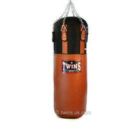 Twins Leather-Nylon Heavy Bag Brown