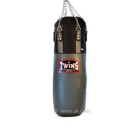 Twins Leather-Nylon Heavy Bag Grey