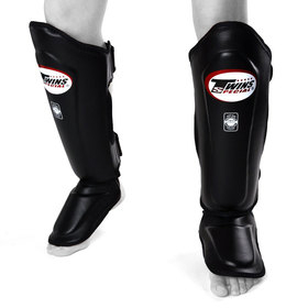 Twins Shin Guards / Double Padded / Black