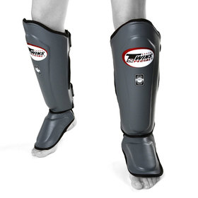 Twins Shin Guards / Double Padded / Grey