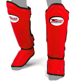 Twins Double Padded Shin Pads Red