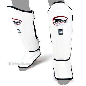 Twins Double Padded Shin Pads White