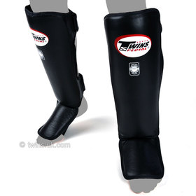 Twins Slim Padded Shin Pads Black