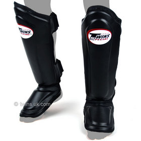 Twins Double Padded Shin Pads Black