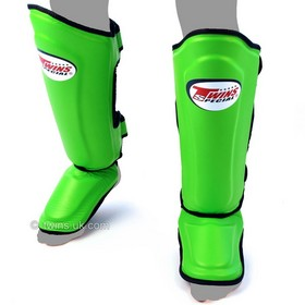 Twins Double Padded Shin Pads Green