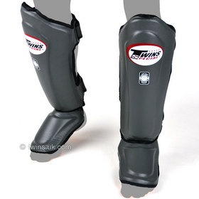 Twins Double Padded Shin Pads Grey